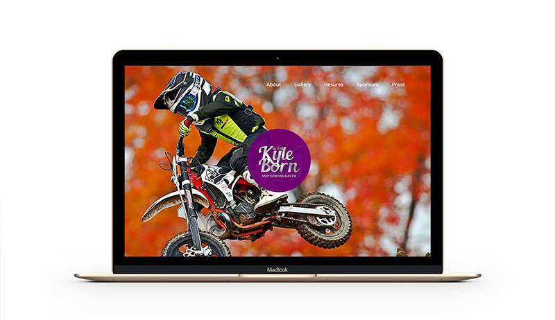 Kyle Born motocross website mockup