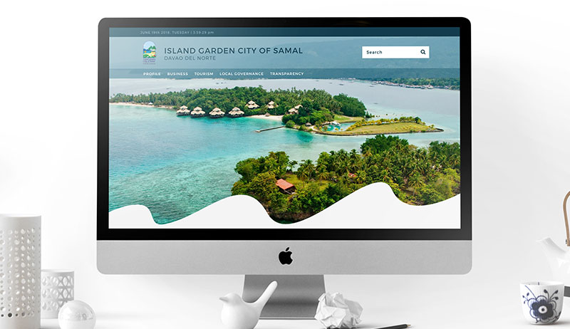 Samal City website mockup